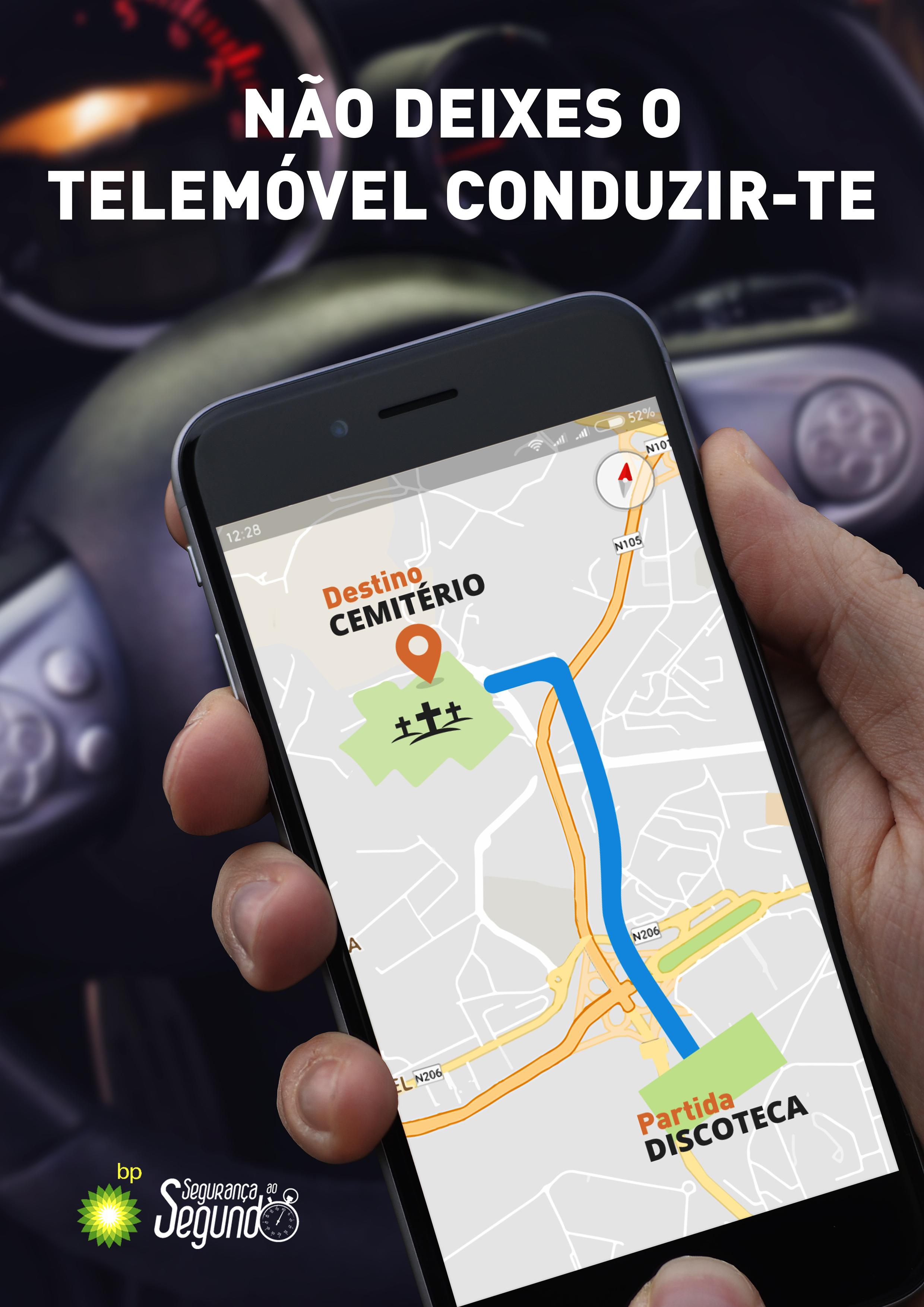 Os conquistadores condução-com-telemovel